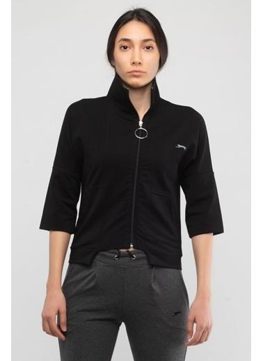 Slazenger Slazenger PETRA Kadın Sweatshirt K. Siyah